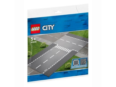 Lego City, Intersectie dreapta si in T 60236, 5+ ani