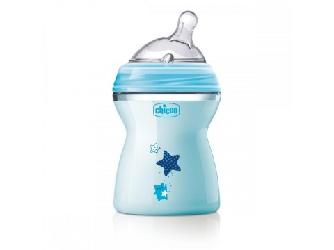 Biberon Chicco Natural Feeling, bleu, 250ml, t.s., 2luni+, 0%BPA